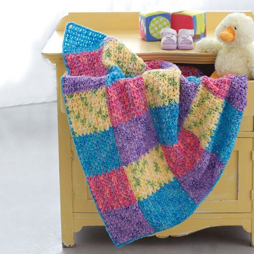 Crochet Color Block Blanket Pattern