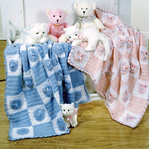 Crochet Colorful Bear Blanket Pattern
