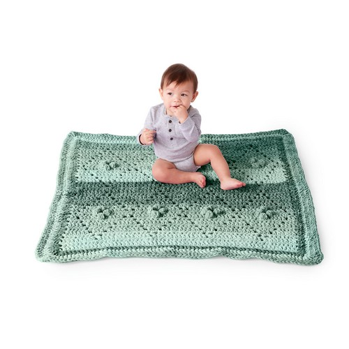 Crochet Diamond Filet Blanket Pattern