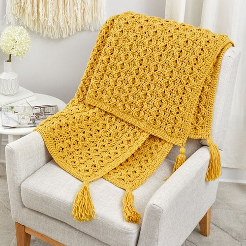 Crochet Golden Blanket Pattern