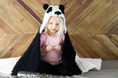 Crochet Hooded Bear Blanket Pattern