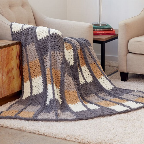 Crochet Keep In Check Blanket Pattern