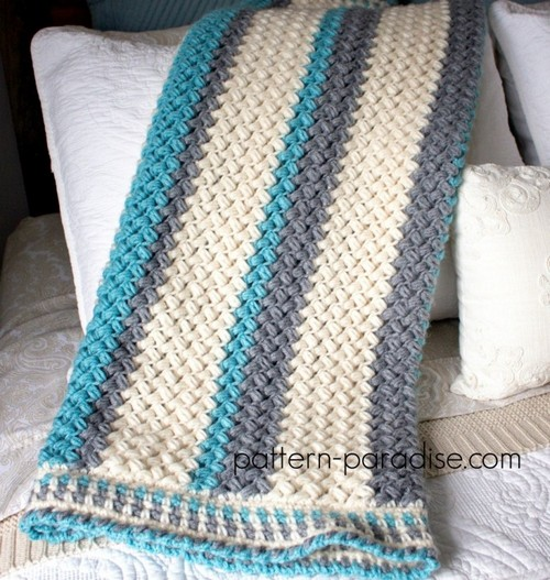 Crochet Pillow Soft Blanket Pattern