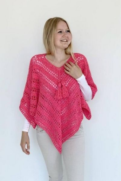 Crochet Such Simple Poncho Free Pattern