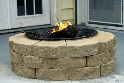 DIY Fire Pit Plan From Recycled