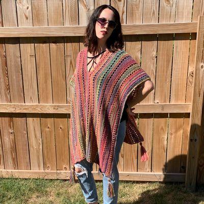 Free Crochet Autumn Bliss Poncho Pattern