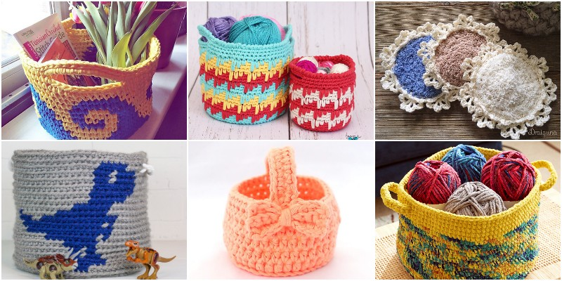 Free Crochet Basket Patterns 1