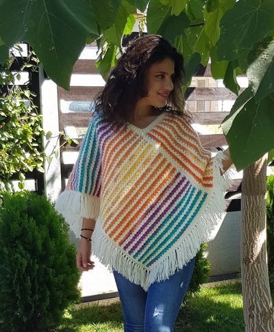 Free Crochet Poncho Simple Pattern