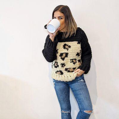 Free Crochet Wild About You Sweater Pattern