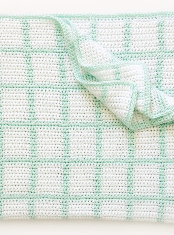 Free Crochet Windowpane Baby Blanket