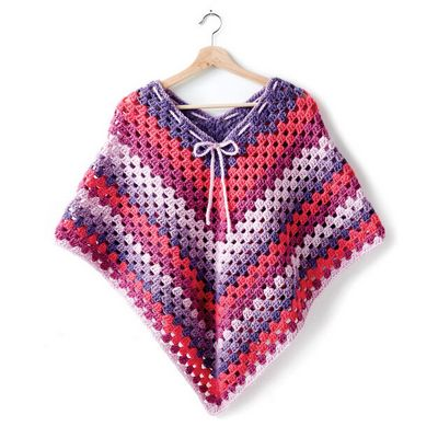 Girl's Poncho Crochet Pattern
