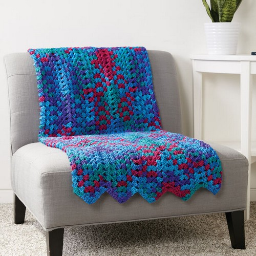 Granny Stitch Chevron Blanket