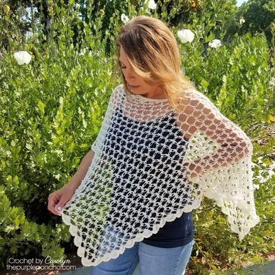 Love Is In The Air Crochet Poncho Free Pattern