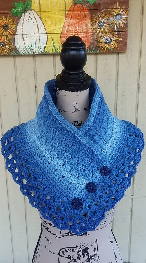 Pam's Ombre Cowled Neckwarmer