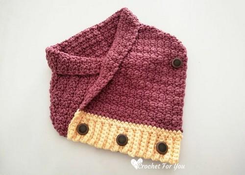 Samara Buttoned Crochet Cowl Pattern