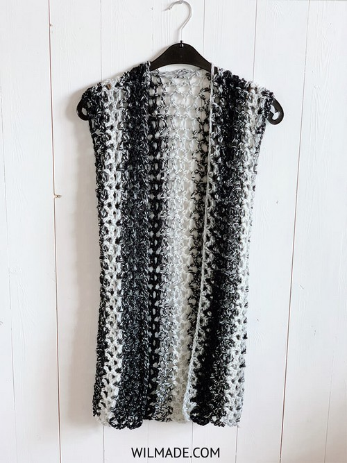 Sleeveless Crochet Vest - Free Crochet Pattern