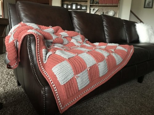 Sofa Crochet Blanket Pattern