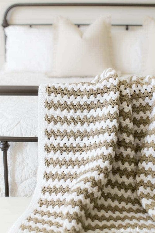 Stripe Afghan Crochet Blanket Pattern