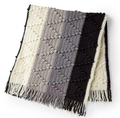 Bobble Striped Blanket Crochet Pattern