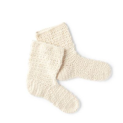 Free Crochet At Home Slouchy Socks Pattern
